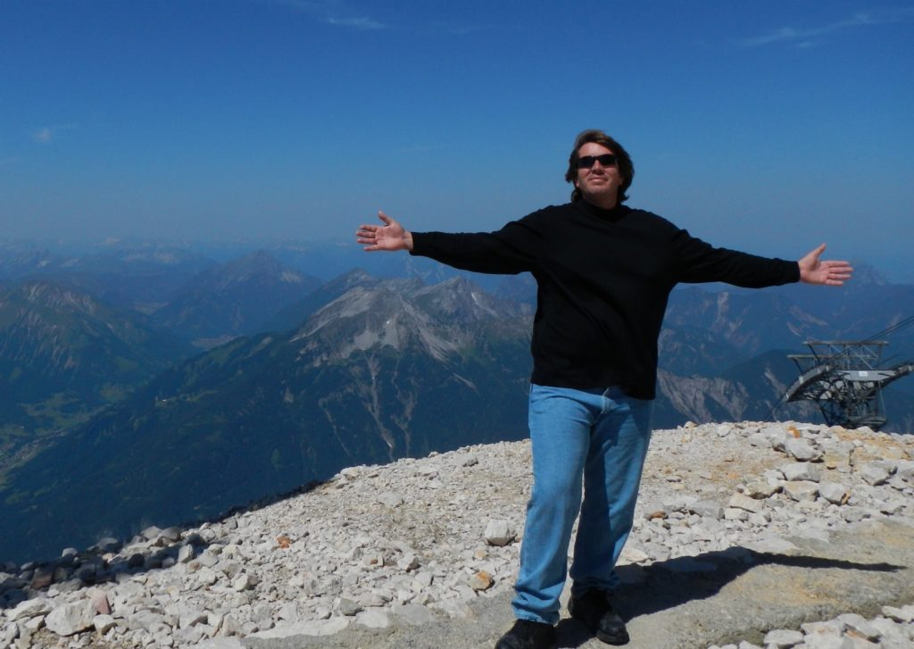 Jeff on top of Germany's highest peak mountain top