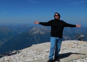 Jeff on top of Germany's highest peak mountain top