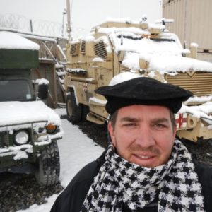 Jeff in snow in Afghanistan